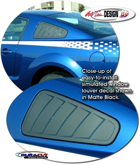 Simulated Window Louver Decal Kit 1 For Ford Mustang