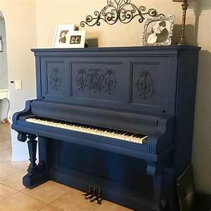 Chalk Paint® in Napoleonic Blue on a piano by Annie Sloan ...