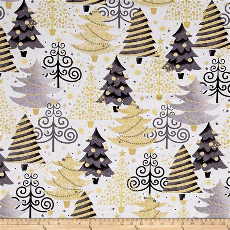 all that glitters metallic christmas trees white