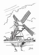Coloring Windmills Dutch Windmill Drawing Kleurplaten Windmolens Drawings Adult Printable Holland Tekening Clipart Template Cool Kleurplaat Sketch Getdrawings Stencils Zo sketch template