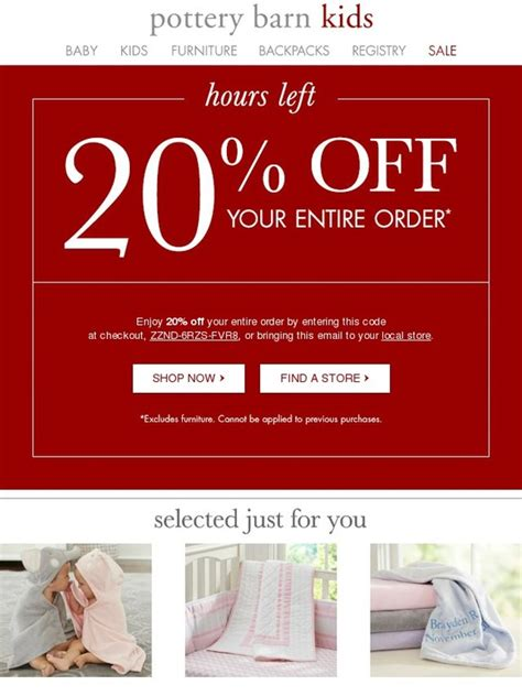pottery barn promo code 20 pottery barn coupons promo codes 2017 autos post