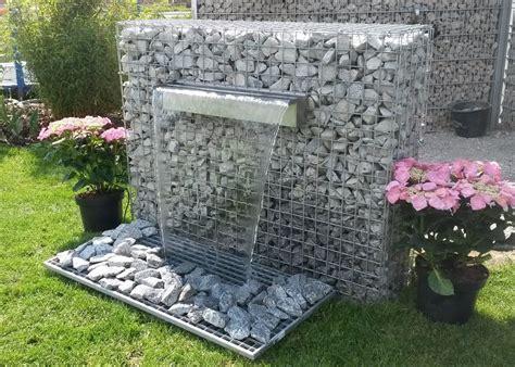 Gartengestaltung Mit Gabionen by Gabionen Mit Wasserfall Gabionen Wasserfall Garten