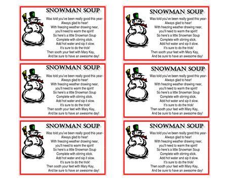 Snowman Soup Poem Template