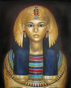Sarcophagus Lid, Egyptian Colors  Egyptian