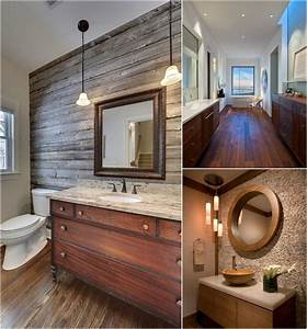 Sol Bois Salle De Bain : id e d co salle de bain bois 40 espaces cosy et chics qui ~ Premium-room.com Idées de Décoration