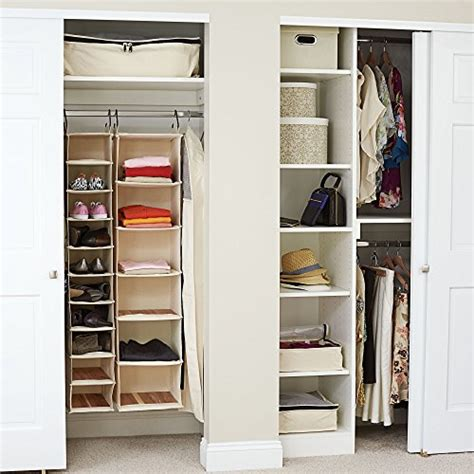household essentials 3328 1 cotton canvas hanging closet