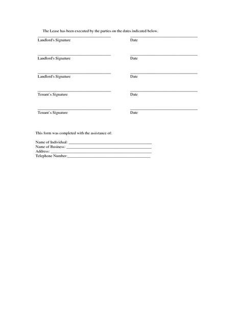 florida single family residential lease