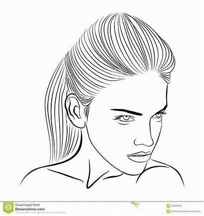 Face Drawing Profile Sketch Woman Female Outline
