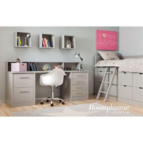 lit combiné bureau fille chambre enfant avec lit à tiroirs bureau et rangement