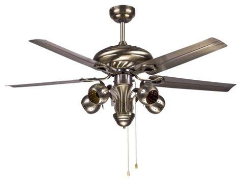 Unique Designer Metal Ceiling Fan Light For Outdoor