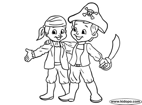 Pirate Kids Coloring Page
