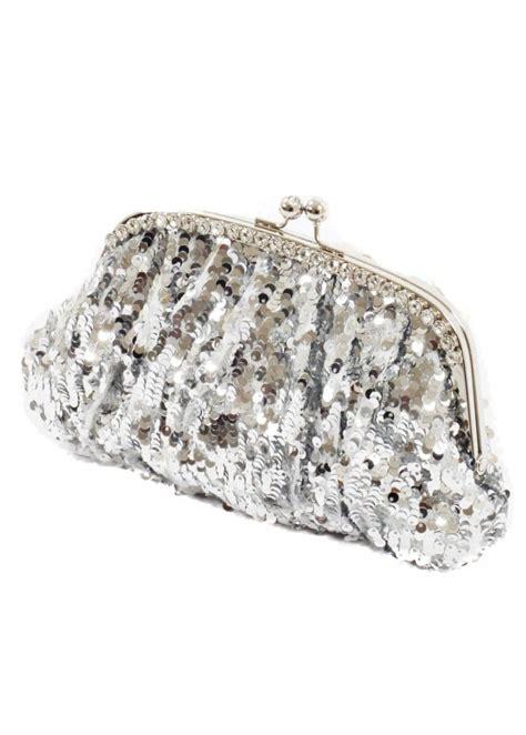 koko silver designer clutch bag silver sequin clutch bag
