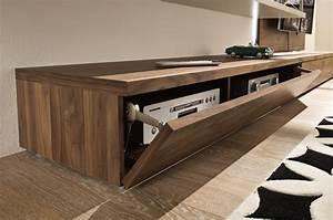 Meuble Hifi Bois : meuble tv bas en bois ~ Voncanada.com Idées de Décoration