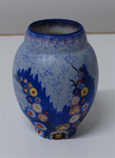 Carlton Ware Vase by Carlton Ware Carlton Ware Deco Painted Floral Patte