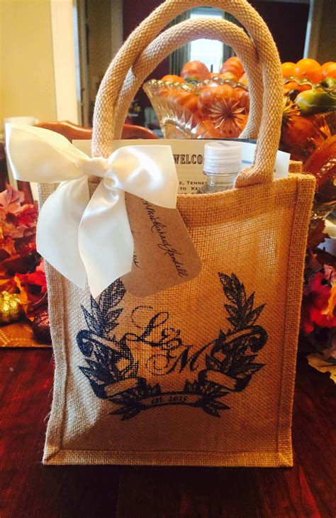 surprise  wedding guests  custom printed gift bags nashville wraps blog