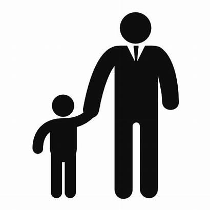 Father Son Icon Icons Vector Silhouette Freepik