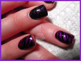 Nail junkie new designs sculptured acrylic pink and black