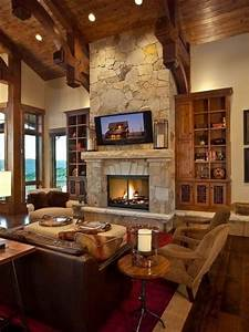 Fireplace Designs With Tv Love The Tv Above The Fireplace One Focal Point In The