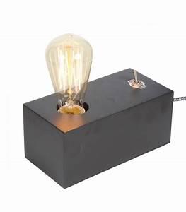 Lampe à Poser Design : lampe poser design en bois noir ~ Teatrodelosmanantiales.com Idées de Décoration