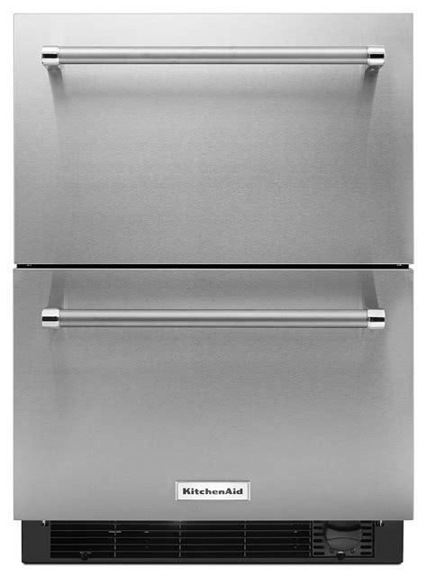 kitchenaid stainless steel compact refrigerator  freezer