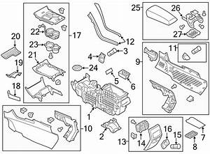 Ford Edge Console Bracket  Components  Rear  Mount  Front  Body