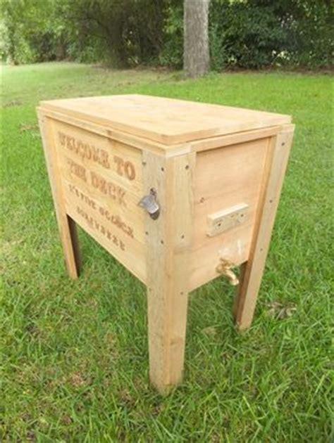 handmade rustic wood cooler ice chest qt  thh