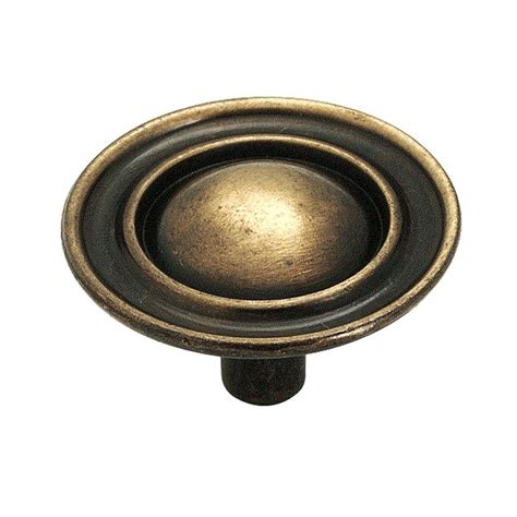 antique brass cabinet knobs amerock 1 1 2 in antique brass cabinet knob 159abs the
