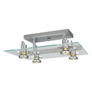 Light Fixtures Home Depot Ceiling by Eglo Focus 4 Light Matte Nickel Ceiling Semi Flush Mount
