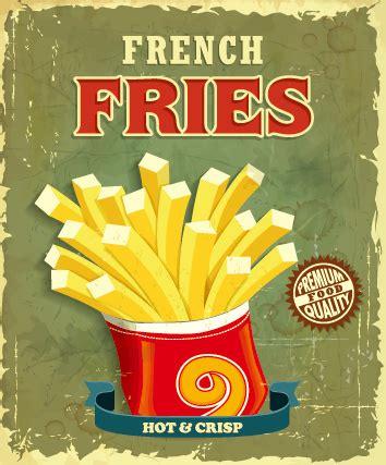 affiche cuisine vintage retro vintage fast food poster design vector free vector