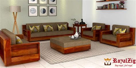 good wooden sofa set