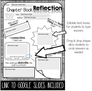 reading comprehension printables   chapter book tpt