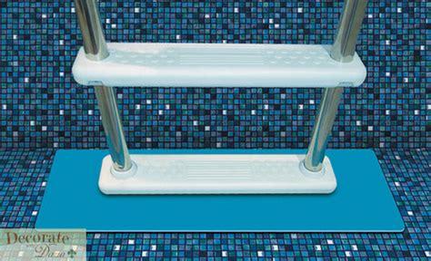 above ground pool ladder deck mount 5 treads resin liner