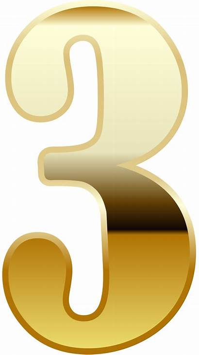 Number Three Clipart Numbers Decorative Yopriceville Transparent