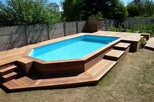 terrasse en cumaru avec marches pour piscine hors sol With attractive amenagement autour de la piscine 11 piscine en pente