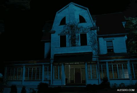 haunted house gif find  gifer