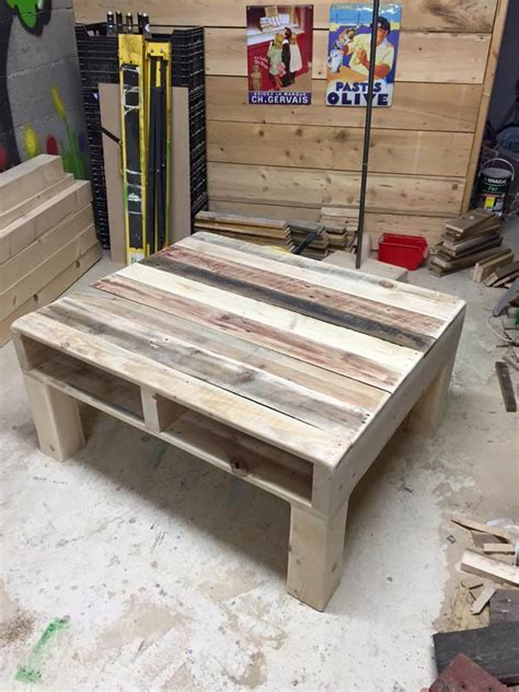 Pallet Coffee Table From Reclaimed Wood  99 Pallets