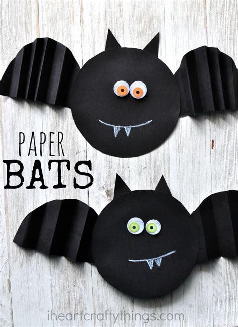 simple accordion fold paper bat craft  heart crafty