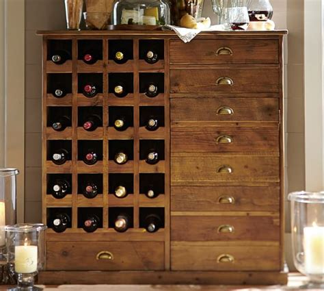 pottery barn kitchen cabinets everett reclaimed wood wine cabinet pottery barn 4375