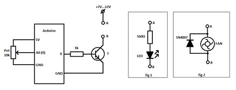 Arduino Potentiometer Led Brightness Fan Speed