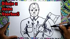 Como Dibujar a Jason Voorhees de Viernes 13 YouTube