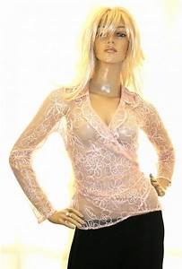Designer Bra Sale Dusky Soft Pink Sheer Wrap Blouse Casual Tops From