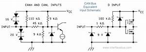 Can Bus Interface Description I  O Schematic Diagrams For