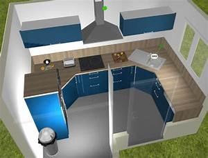 Cuisine D Angle : meuble d angle 95 95 plan de travail 4 messages ~ Teatrodelosmanantiales.com Idées de Décoration