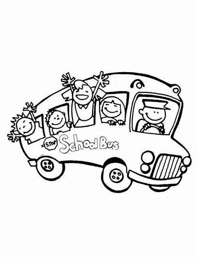 Coloring Bus Student Happy Pages Buses Printable