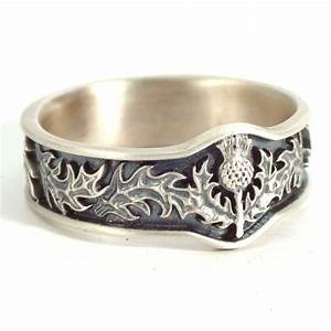 scottish thistle ring with leaves in eternity wedding ring With celtic wedding ring designs