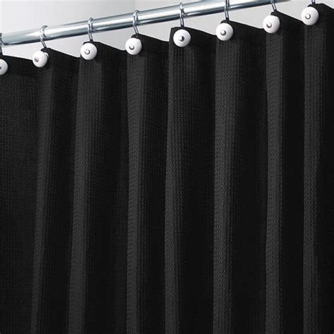 york fabric shower curtain black in shower curtains and