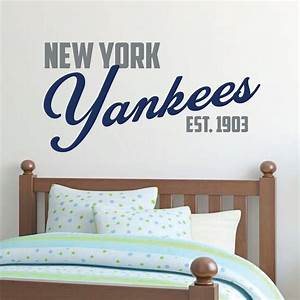 new york yankees yankee wall decal baseball With kitchen colors with white cabinets with new york yankees stickers