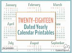 2018 calendars Archives Scattered Squirrel