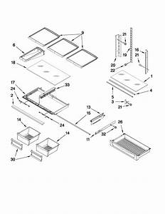 Shelf Parts Diagram  U0026 Parts List For Model Mfi2569yeb0
