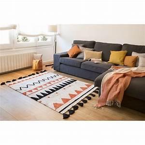 tapis lavable en machine lorena canals azteque orange 120 With tapis lavable machine